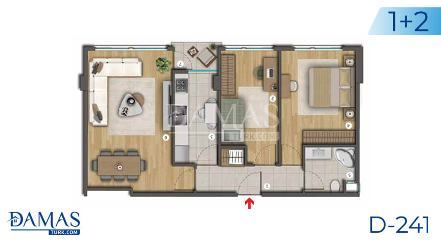 Damas Project D-241 in Istanbul - Floor plan picture  03