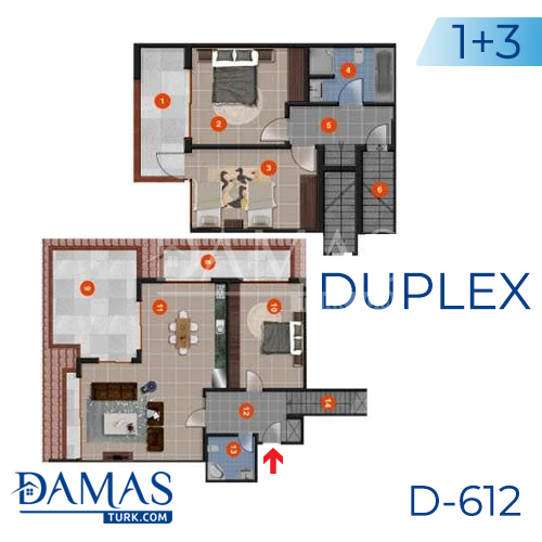 Damas Project D-612 in Antalya - Floor plan picture 03