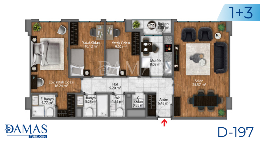 Damas Project D-197 in Istanbul - Floor plan picture  03
