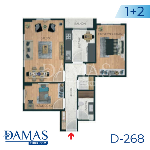 Damas Project D-268 in Istanbul - Floor plan picture 03