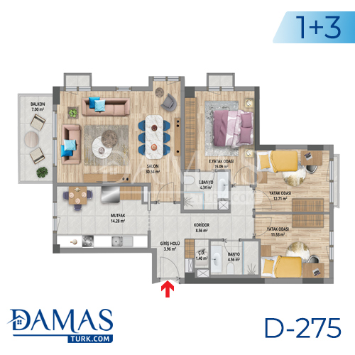 Damas Project D-275 in Istanbul - Floor plan picture 03