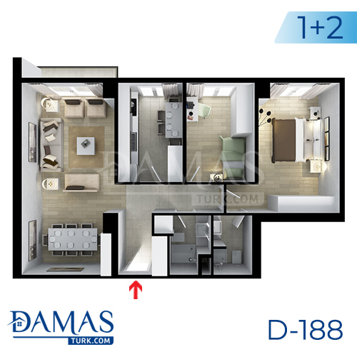Damas Project D-188 in Istanbul - Floor plan picture  03