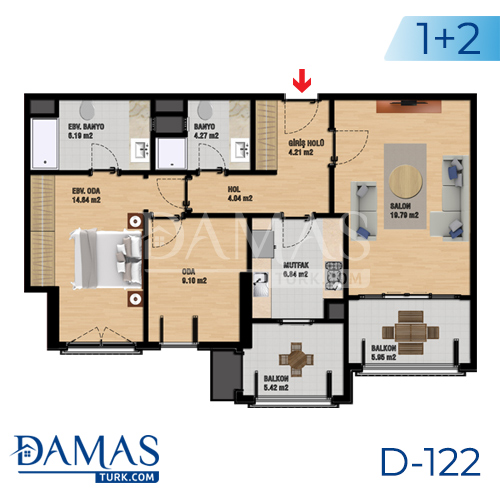 Damas Project D-122 in Istanbul - Floor plan picture 03