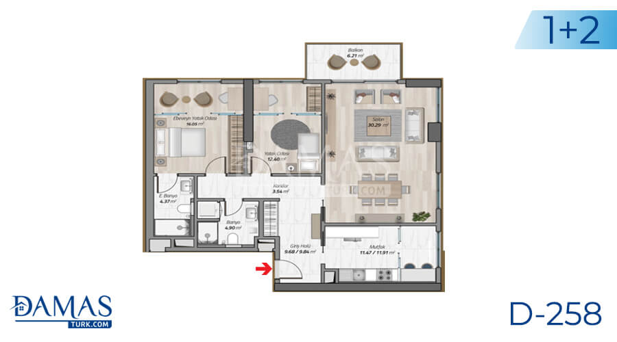 Damas Project D-258 in Istanbul - Floor plan picture 03
