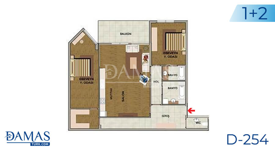 Damas Project D-254 in Istanbul - Floor plan picture 03