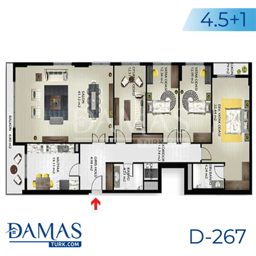 Damas Project D-267 in Istanbul - Floor plan picture 03