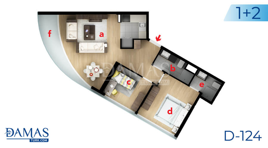 Damas Project D-124 in Istanbul - Floor plan picture 03