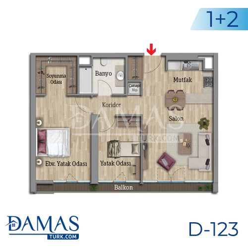 Damas Project D-123 in Istanbul - Floor plan picture 03