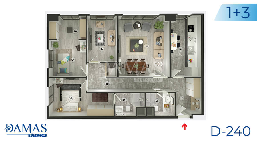 Damas Project D-240 in Istanbul - Floor plan picture  03