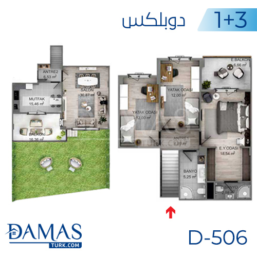 Damas Project D-506 in kocaeli - Floor plan picture 03