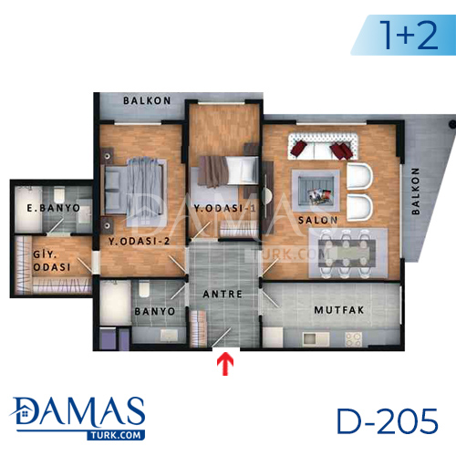 Damas Project D-205 in Istanbul - Floor plan picture  03