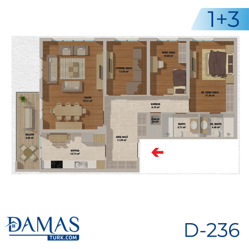 Damas Project D-236 in Istanbul - Floor plan picturer  03