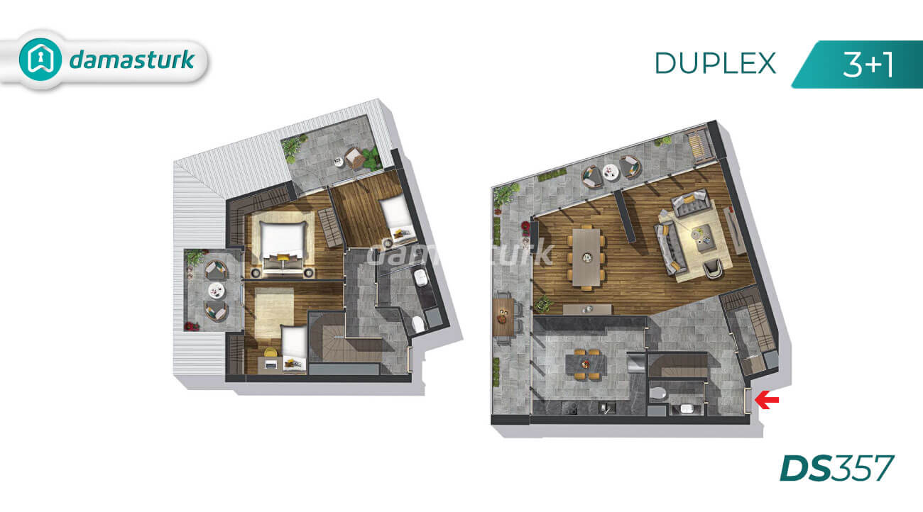 Apartments for sale in Turkey - Istanbul - the complex DS357 || damasturk Real Estate Company 03