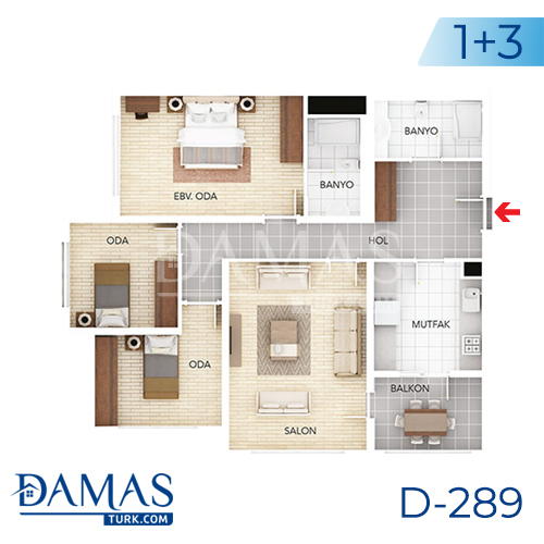 Damas Project D-289 in Istanbul - Floor plan picture 03