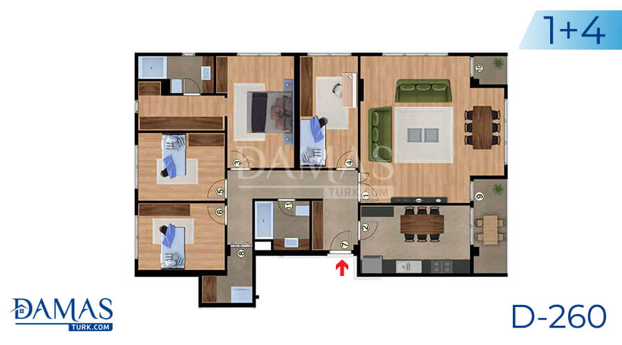 Damas Project D-260 in Istanbul - Floor plan picture 03