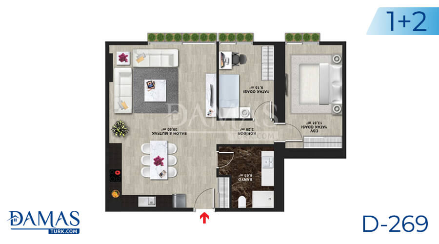 Damas Project D-269 in Istanbul - Floor plan picture 03