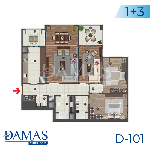 Damas Project D-101 in Istanbul - Floor plan picture 03