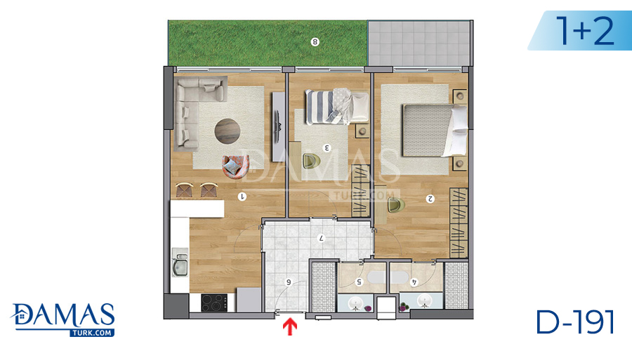 Damas Project D-191 in Istanbul - Floor plan picture  03