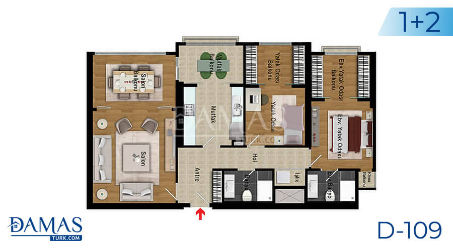 Damas Project D-109 in Istanbul - Floor plan picture 03