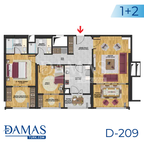 Damas Project D-209 in Istanbul - Floor plan picture  03