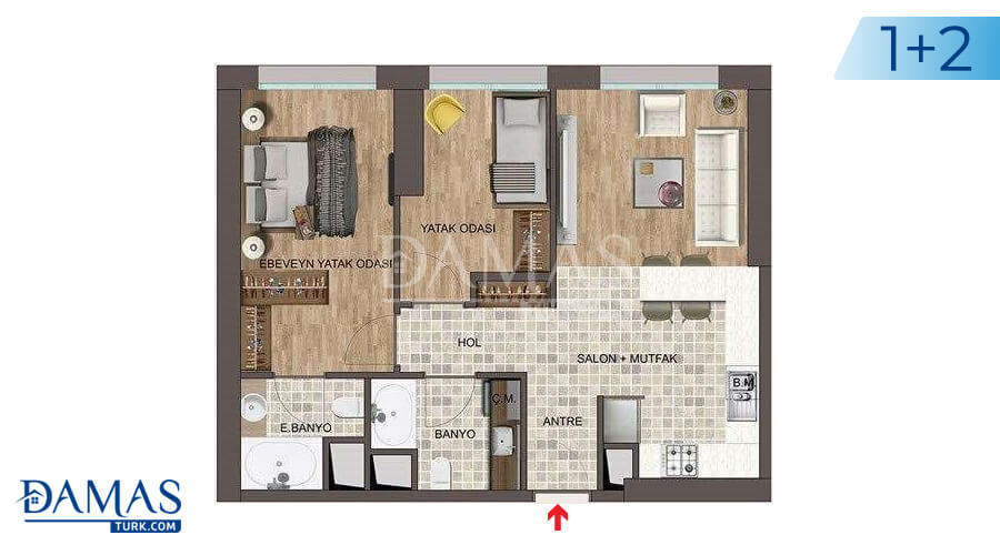 Damas Project D-139 in Istanbul - Floor plan picture 03
