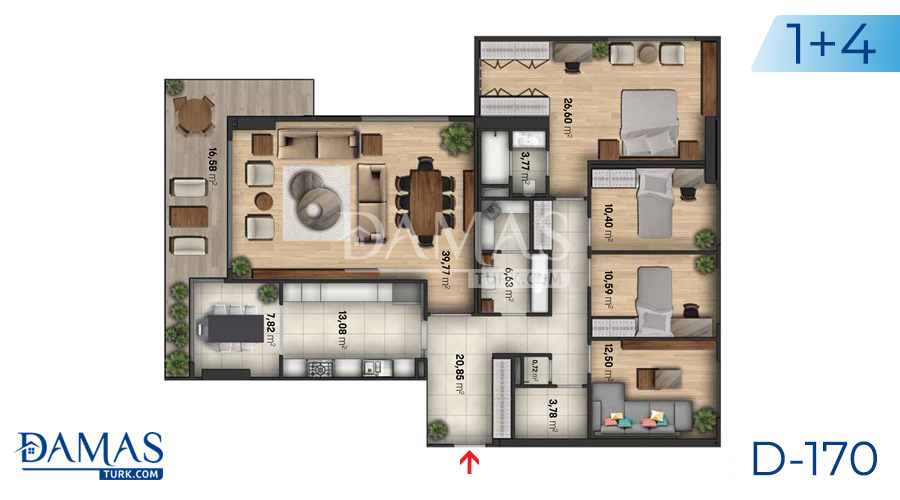 Damas Project D-170 in Istanbul - Floor plan  picture  03