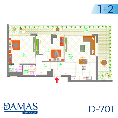 Damas Project D-701 in Ankara - Floor plan picture 03