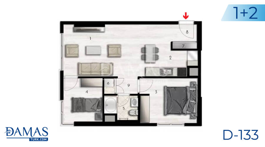 Damas Project D-133 in Istanbul - Floor plan picture 03