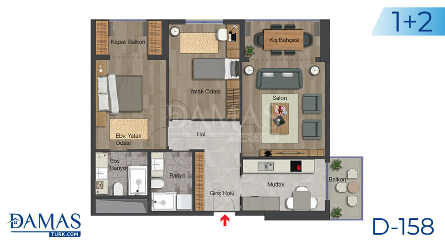 Damas Project D-158 in Istanbul - Floor plan picture 03