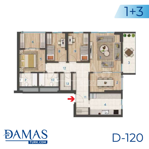 Damas Project D-120 in Istanbul - Floor plan picture 03