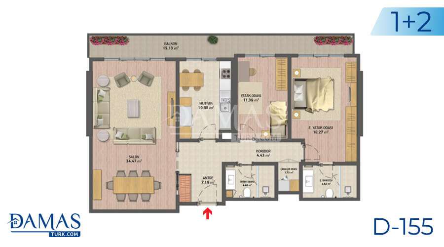 Damas Project D-155 in Istanbul - Floor plan picture 03
