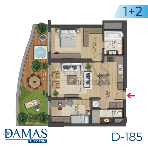 Damas Project D-185 in Istanbul - Floor plan picture  03