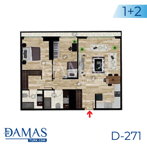 Damas Project D-271 in Istanbul - Floor plan picture 03
