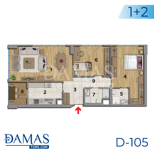 Damas Project D-105 in Istanbul - Floor plan picture 03