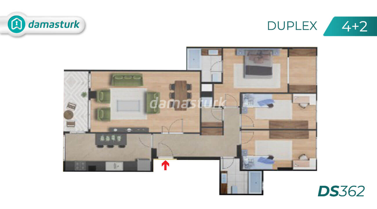 Apartments for sale in Turkey - Istanbul - the complex DS362  || damasturk Real Estate Company 03