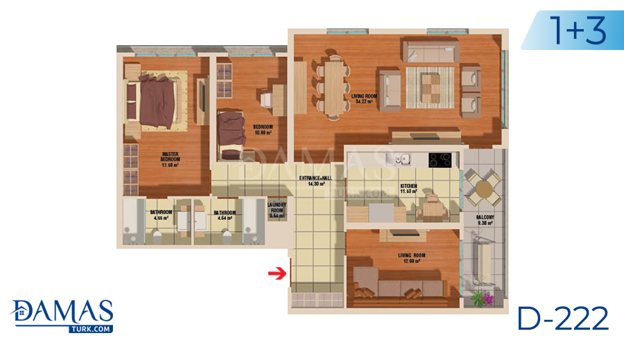 Damas Project D-222 in Istanbul - Floor plan picture  03