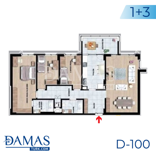 Damas Project D-100 in Istanbul - Floor plan picture 03