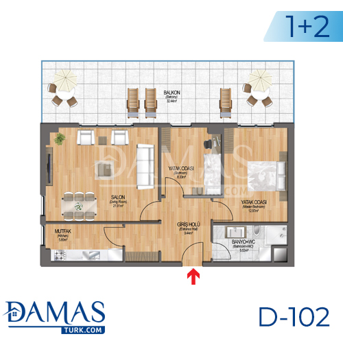 Damas Project D-102 in Istanbul - Floor plan picture 03