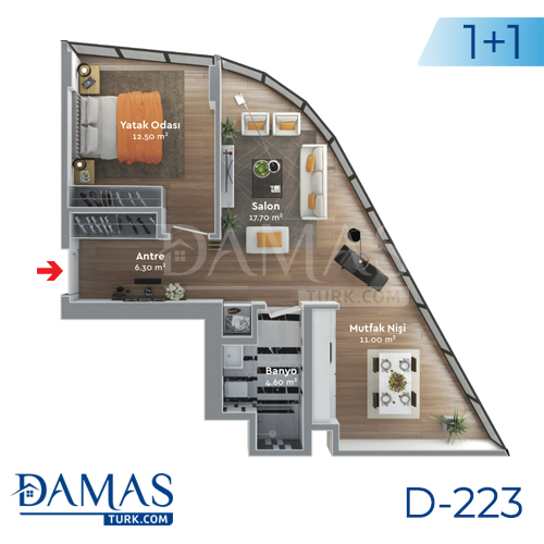 Damas Project D-223 in Istanbul - Floor plan  picture  03