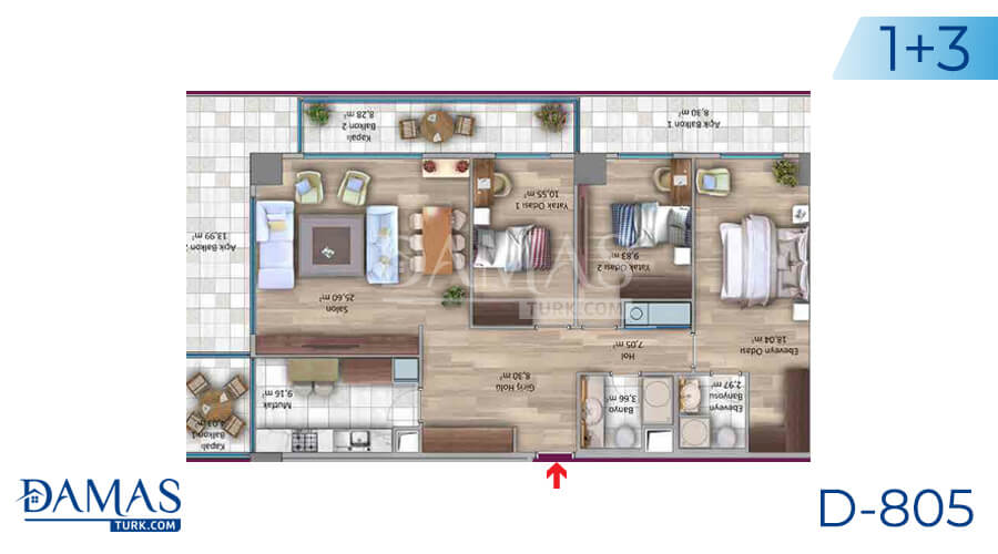 Damas Project D-805 in Istanbul - Floor plan picture 03