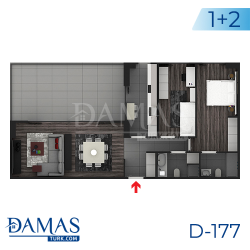 Damas Project D-177 in Istanbul - Floor plan picture  03