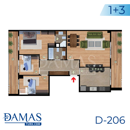 Damas Project D-206 in Istanbul - Floor plan picture 03