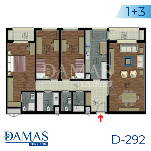 Damas Project D-292 in Istanbul - Floor plan picture 03