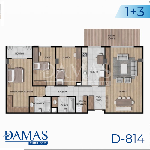 Damas Project D-814 in Istanbul - Floor plan picture 03