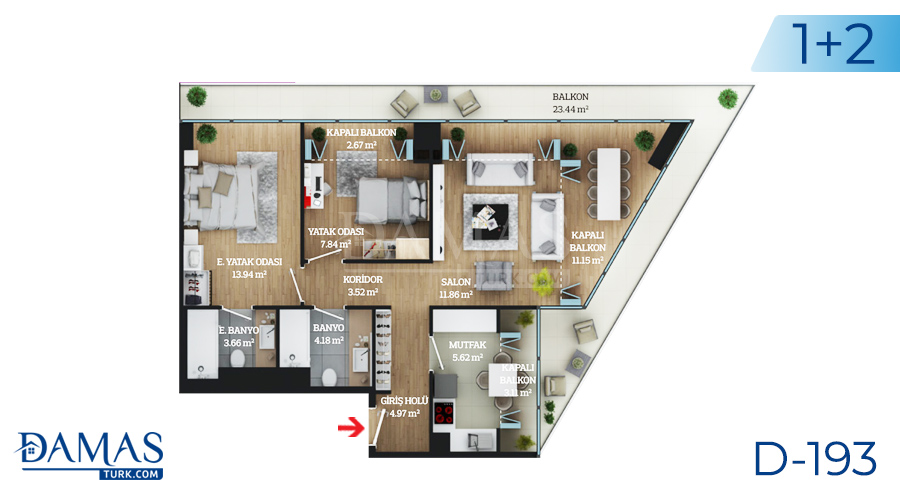 Damas Project D-193 in Istanbul - Floor plan picture  03