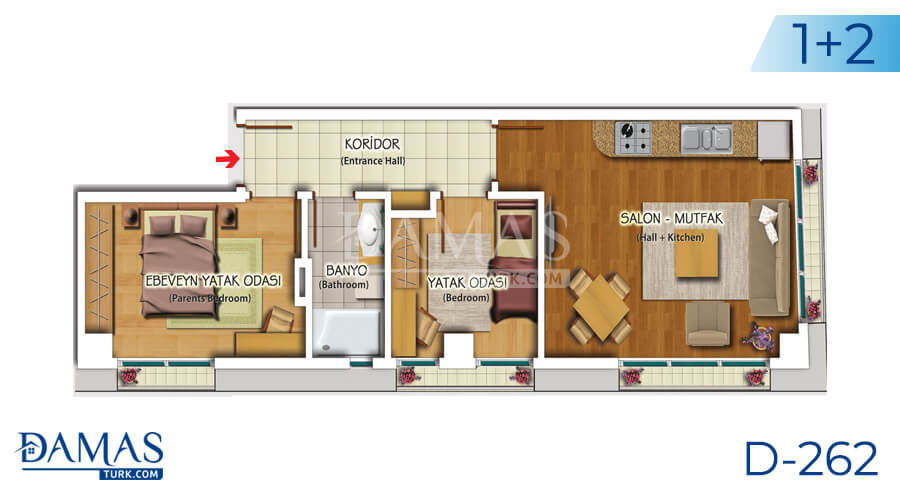 Damas Project D-262 in Istanbul - Floor plan picture 03