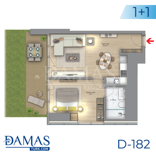 Damas Project D-182 in Istanbul - Floor plan picture  03