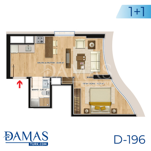 Damas Project D-196 in Istanbul - Floor plan picture  03