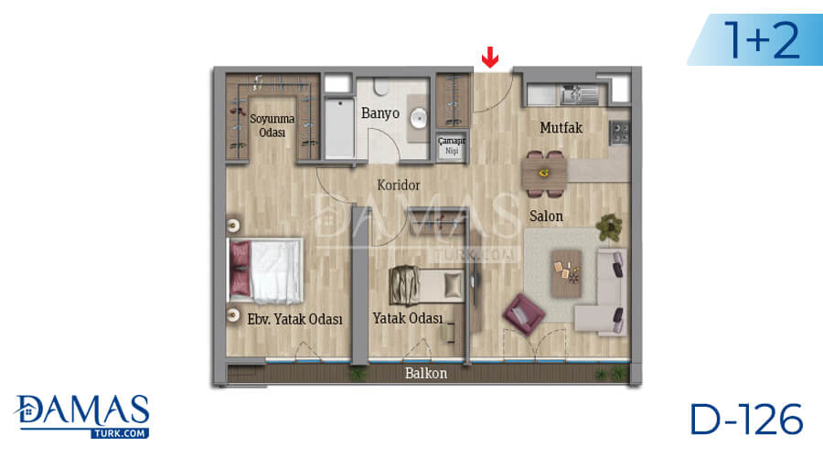 Damas Project D-126 in Istanbul - Floor plan picture 03