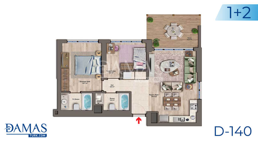 Damas Project D-140 in Istanbul - Floor plan picture 03